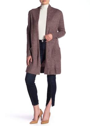 Susina Shawl Collar Knee Length Cardigan (Regular & Petite)