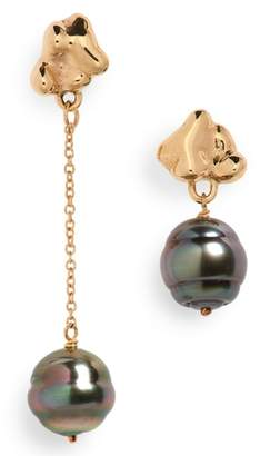FARIS Black Pearl Drop Earrings