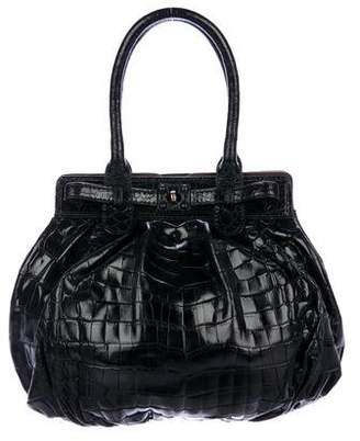 Zagliani Crocodile Puffy Bag