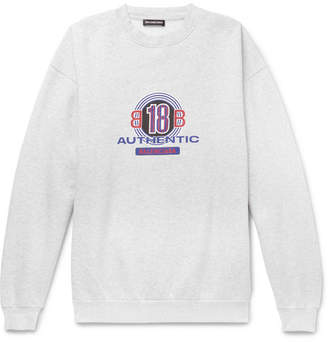 Balenciaga Logo-Print Cotton-Blend Jersey Sweatshirt