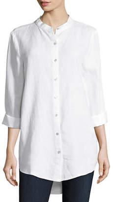 Eileen Fisher Organic Linen Tunic Shirt