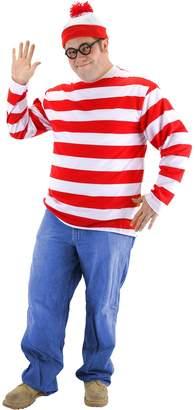 Elope mens Plus Size Where's Waldo Costume