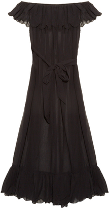 MARYSIA SWIM Victoria cotton and silk-blend maxi dress $480 thestylecure.com