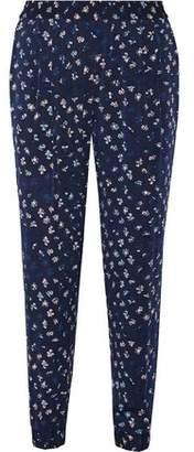 Diane von Furstenberg Janeta Printed Stretch-Silk Tapered Pants