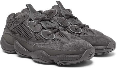 adidas Originals Yeezy 500 Desert Rat Suede, Leather And Mesh Sneakers