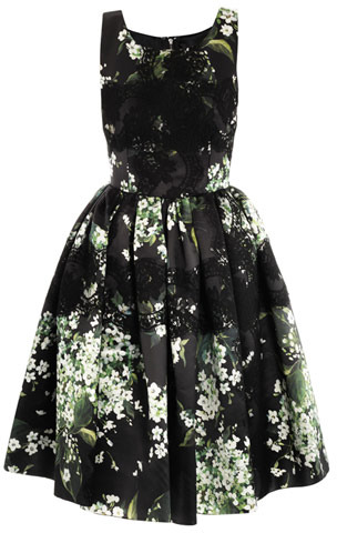 Dolce & Gabbana Lily of the Valley print prom dress