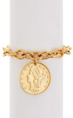 Yochi United Eagle Coin Charm Bracelet