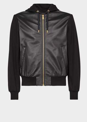 Versace Studded Medusa Hooded Leather Jacket