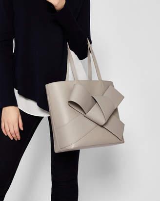 Ted Baker ALLIIE Giant knot leather shopper bag