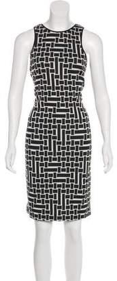 Tibi Knee-Length Scoop Neck Dress
