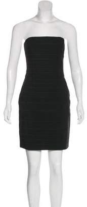 Dolce & Gabbana Strapless Satin-Paneled Dress