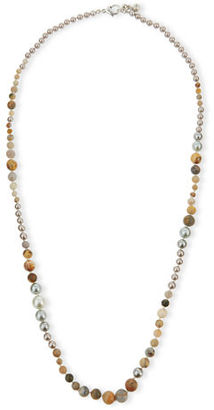 Lulu Frost Long Glass Pearl Necklace $315 thestylecure.com