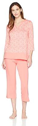 Arabella Women's Tunic and Cropped Pant Pajama Set