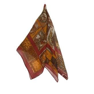 Hermes Gavroche 45 Red Silk Scarves