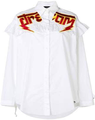 Diesel slogan embroidered shirt