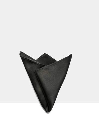 Black Silk Pocket Square