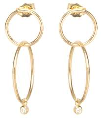Chicco Zoe 14ct Yellow Gold Diamond Medium Double Hoop Earrings
