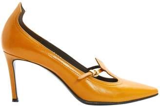 Michel Perry Orange Leather Heels