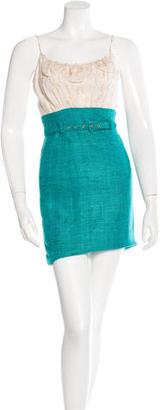 Trina Turk Silk-Trimmed Sheath Dress $85 thestylecure.com