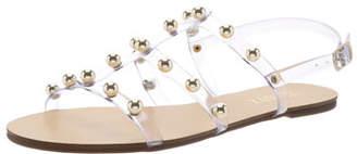 Schutz Studded Flat Jelly Sandals