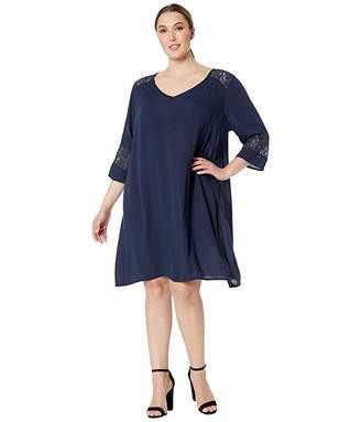 Junarose Plus Size Paja 3/4 Sleeve Above Knee Dress