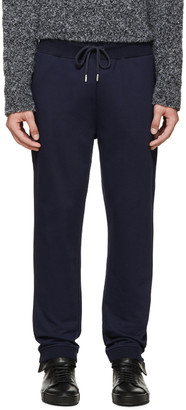 Christopher Kane Navy French Terry Lounge Pants $520 thestylecure.com