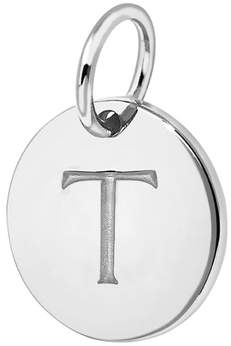 Missoma T Sterling Silver Charm