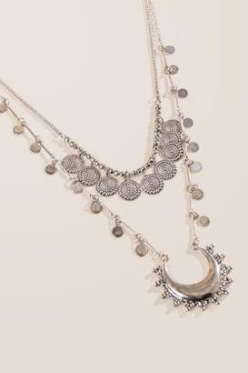 francesca's Danielle Boho Layered Necklace - Silver