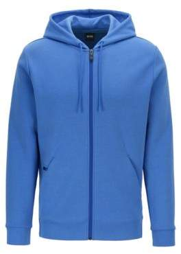 61a9f2363 BOSS Zip-through hooded sweatshirt with concealed phone pocket