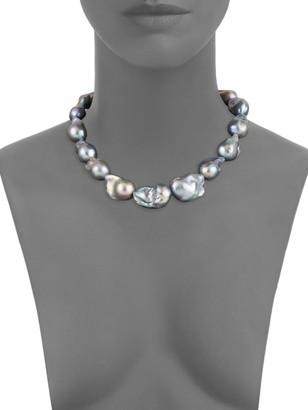 Tara Pearls 13MM Dyed Baroque Freshwater Pearl Sterling Silver Necklace