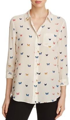 Rails Silk Print Shirt $188 thestylecure.com