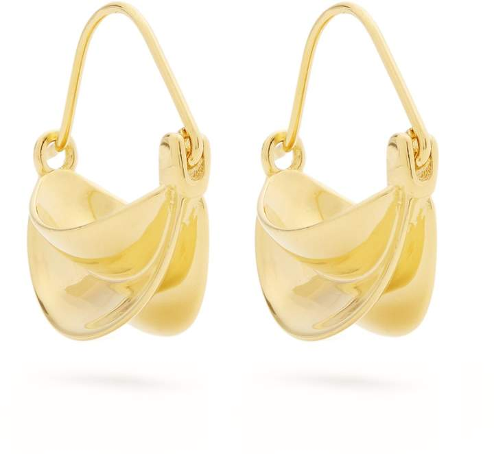 ANISSA KERMICHE Mini gold-plated earrings