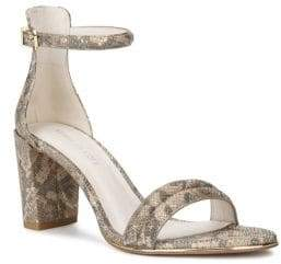 Kenneth Cole New York Lex Embossed Leather Ankle-Strap Sandals