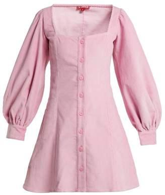 Staud - Chandler Corduroy Mini Dress - Womens - Pink