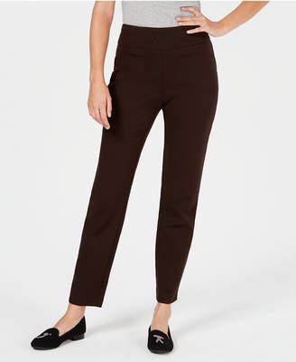 Charter Club Petite Pull-On Ponte-Knit Pants