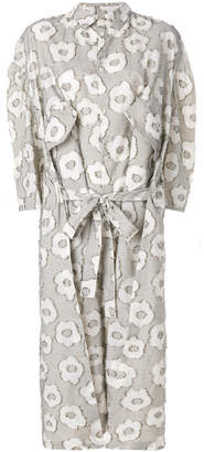 Henrik Vibskov shirt dress with floral pattern