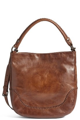 Frye Melissa Whipstitch Leather Hobo - Brown $428 thestylecure.com