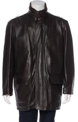 Fratelli Rossetti Leather Zip-Up Jacket