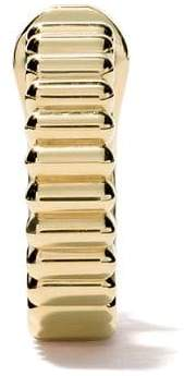 Boucheron 18kt yellow gold Quatre Grosgrain single hoop earring