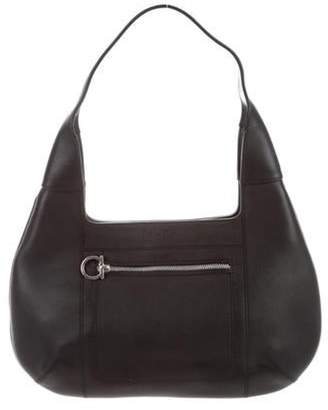 Salvatore Ferragamo Leather Shoulder Bag Black Leather Shoulder Bag