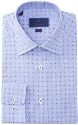 David Donahue Slim Fit Print Dress Shirt