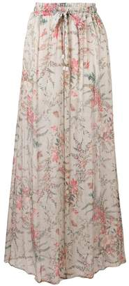 Zimmermann floral elasticated waist skirt