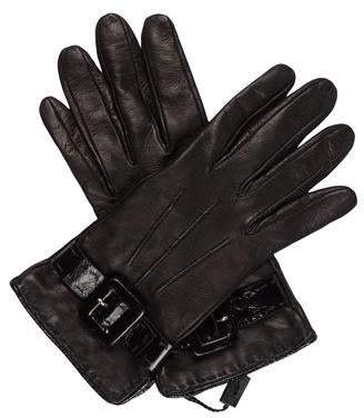 Saint Laurent Leather Buckle-Accented Gloves w/ Tags