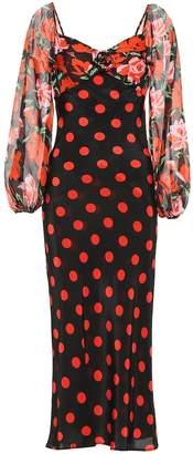 Rixo Josephine polka-dot silk dress