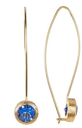 Rivka Friedman Cascading Sapphire Crystal Earrings