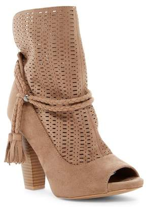 Qupid Bailey Perforated Tassel Bootie