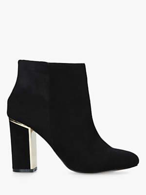 Carvela Scape Block Heel Ankle Boots, Black