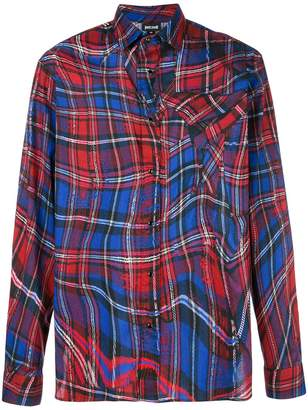 Just Cavalli abstract checked shirt