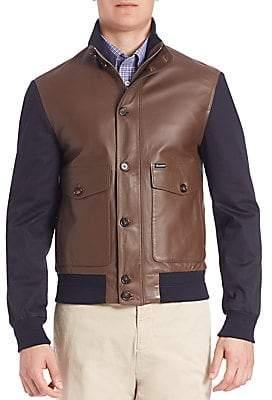 Façonnable Men's Ribbed Hybrid Blouson Jacket