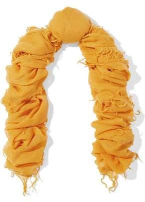 Chan Luu Fringe-Trimmed Cashmere And Silk-Blend Cashmere Scarf
